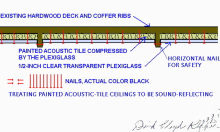 Treating Painted Acoustic Tile Ceilings to be Sound Reflecting